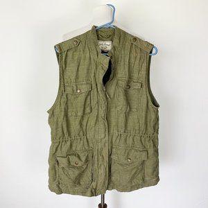Lucky Brand Women's Size XL Army Green Cargo Vest